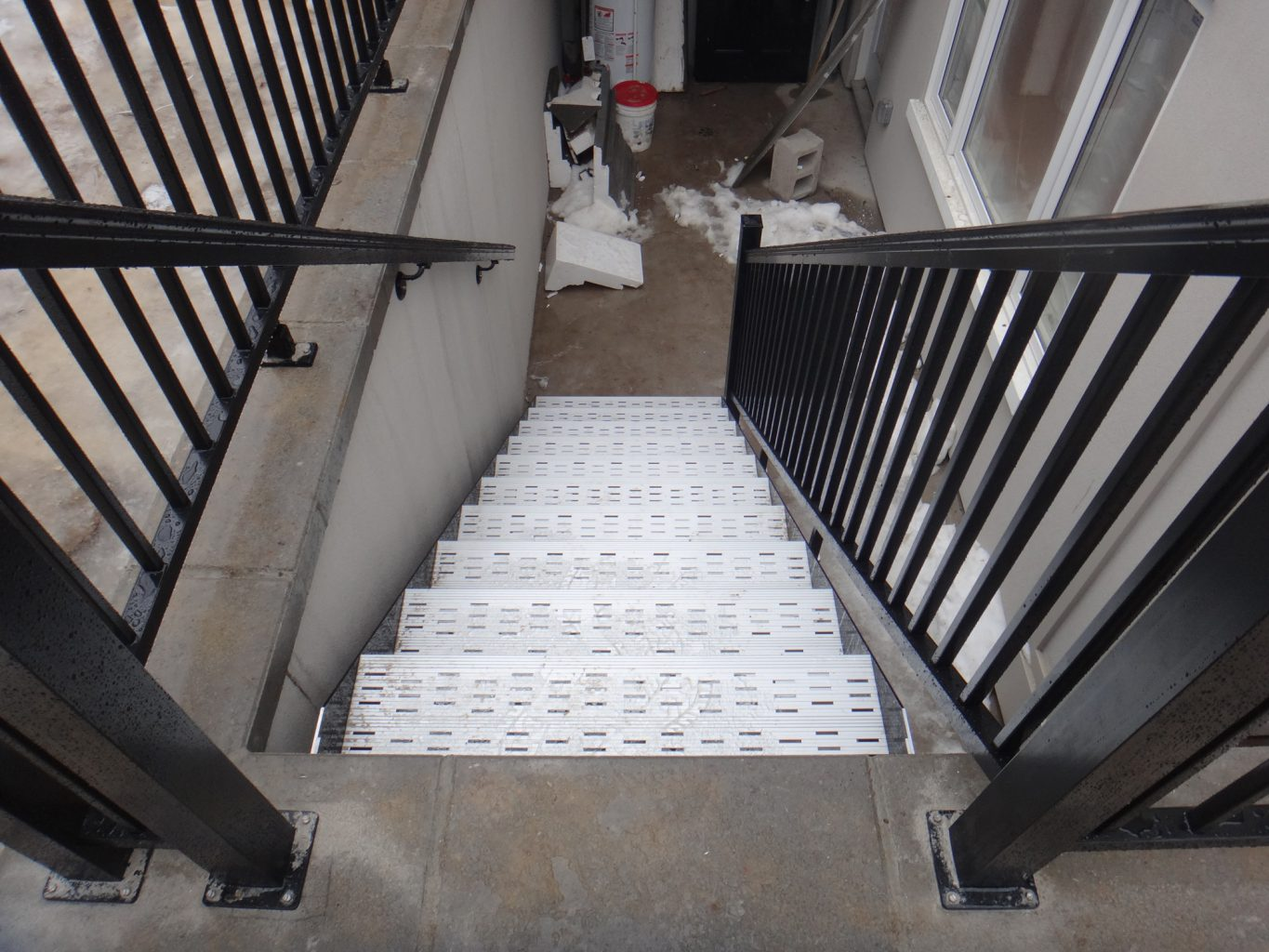 residential metal stair railings