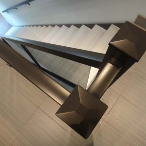 railings and stairs in industrial interior