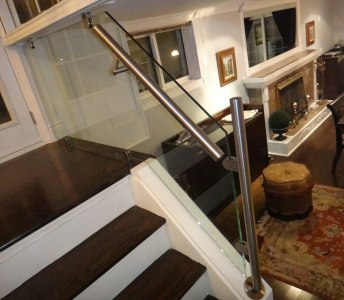 Stair Glass Railings for Residential Space