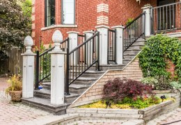 Porch aluminum railings with pickets in Richmond Hill