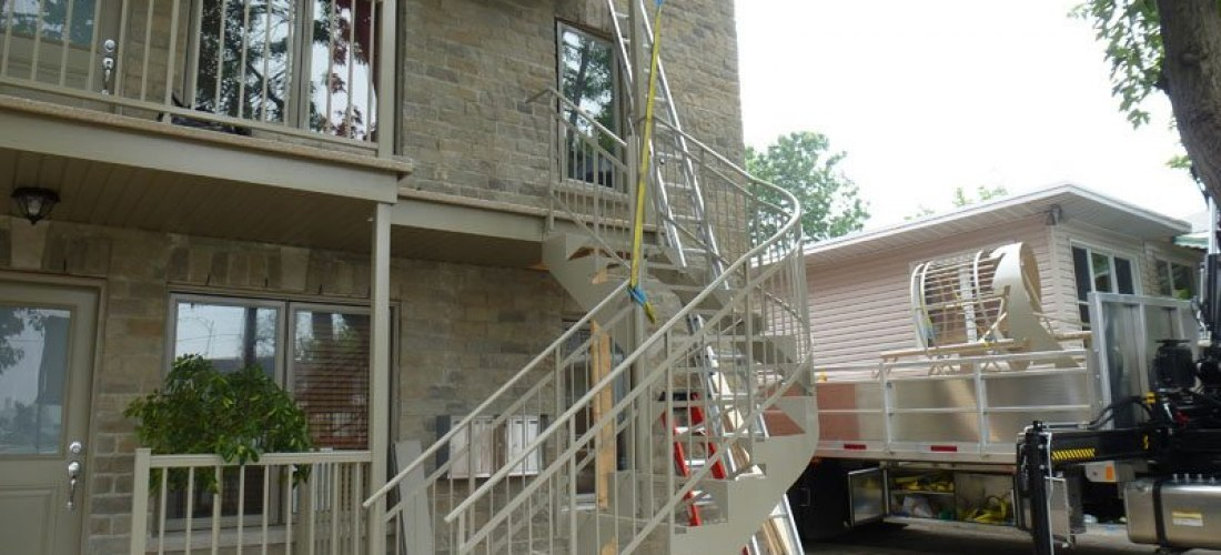 Aluminum Spiral Stairs and Balconies