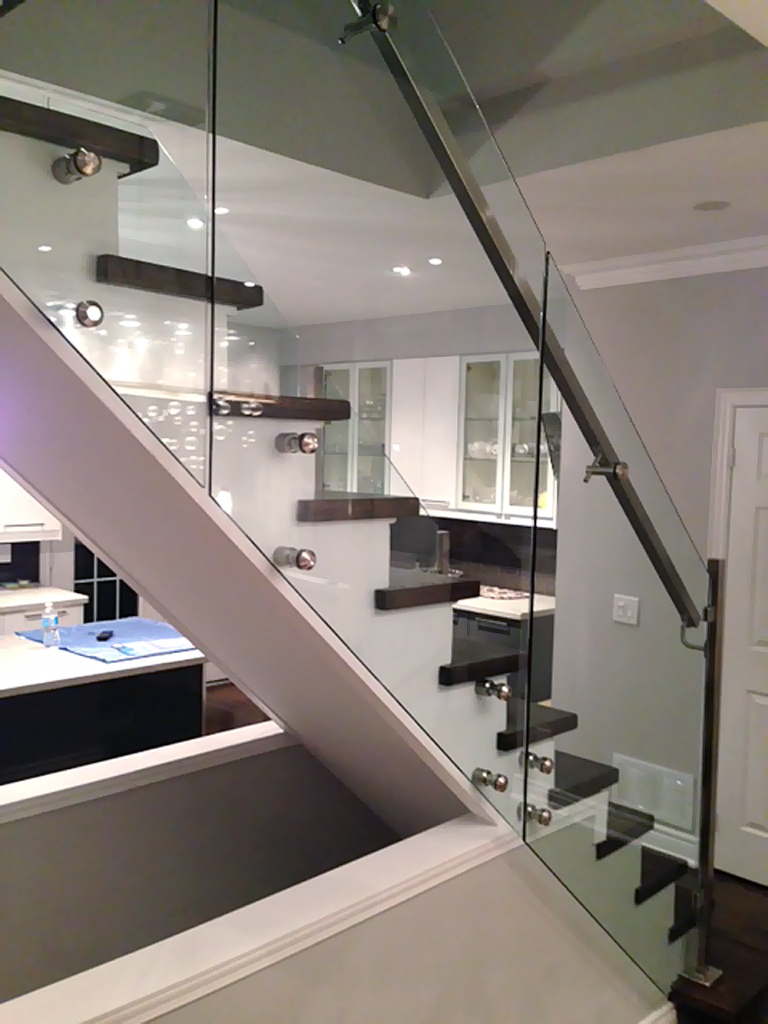 Interior Railing Stair Systems   Staircase With Glass Railing   Glass Stair  Railing Home Design Styles