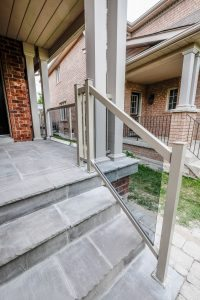 Replacing metal porch railings in Newmarket