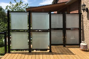 glass privacy divider