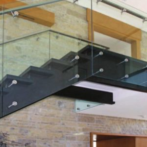 interior glass stair railings